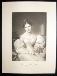 Frances Anne Kemble 1873 Antique Portrait Print